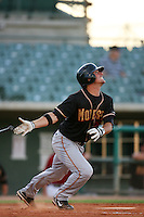 August 24 2008: Michael Paulk of the Modesto Nuts bats against the Lancaster JetHawks at Clear Channel Stadium in Lancaster,CA.  Photo by Larry Goren/Four Seam Images