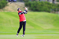 Ally McDonald of Team USA on the 2nd fairway during Day 2 Foursomes at the Solheim Cup 2019, Gleneagles Golf CLub, Auchterarder, Perthshire, Scotland. 14/09/2019.<br /> Picture Thos Caffrey / Golffile.ie<br /> <br /> All photo usage must carry mandatory copyright credit (© Golffile | Thos Caffrey)