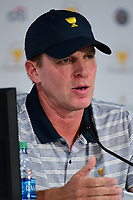 Steve Stricker (USA) speaks during round 1 player selection for the 2017 President's Cup, Liberty National Golf Club, Jersey City, New Jersey, USA. 9/27/2017.<br /> Picture: Golffile | Ken Murray<br /> <br /> <br /> All photo usage must carry mandatory copyright credit (&copy; Golffile | Ken Murray)