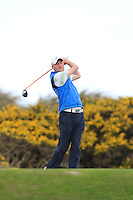 Alan Thomas (Dungarvan) on the 7th tee during round 2 of The West of Ireland Amateur Open in Co. Sligo Golf Club on Saturday 19th April 2014.<br /> Picture:  Thos Caffrey / www.golffile.ie
