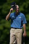 6 September 2008:   Jim Furyk tips his hat to the crowd in the third round of play at the BMW Golf Championship at Bellerive Country Club in Town & Country, Missouri, a suburb of St. Louis, Missouri. Furyk was the leader after the conclusion of round two with a score of 62.  After the first nine holes of the 18-hole third round, Furyk was 11 under-par.  The BMW Championship is the third event of the Fed Ex Cup and the top 30 finishers will qualify for the next event of the championship.