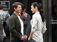 June 12, 2012:  Tom Cruise and Olga Kurylenko on the set of the film, Oblivion in New York City. &copy; RW/MediaPunch Inc. NORTEPHOTO.COM<br /> NORTEPHOTO.COM