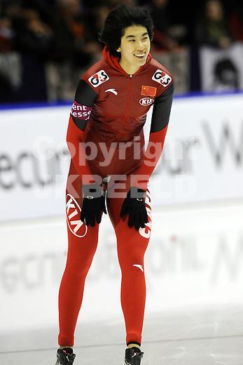 HEERENVEEN - Schaatsen, IJsstadion Tialf, World Cup, 2011-2012, 03-12-2011, Peiyu Jin