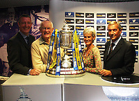 Scottish FA President Campbell Ogilvie joined by Julie Murray with her father and former player Roy Erskine and Eddie Thompson, William Hill Operations Controller for Scotland, in conducting the draw for the Scottish Cup 1st Round which took place at Hampden Park, Glasgow on 8.8.13.