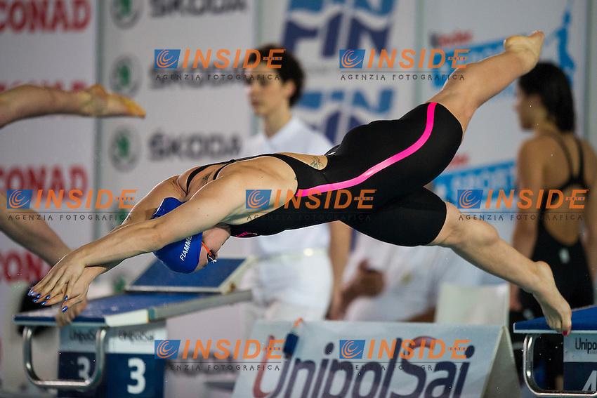 Ilaria Bianchi Fiamme Azzurre<br /> 100 Farfalla Donne<br /> Finali Giorno 3<br /> Campionati Italiani Assoluti Nuoto Primaverili Fin UnipolSai<br /> Riccione Italy 14-18/04/2015<br /> Photo Andrea Masini/Deepbluemedia/Insidefoto