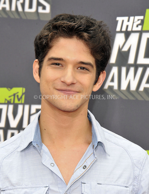 WWW.ACEPIXS.COM....April 14, 2013, Los Angeles, Ca.......Tyler Posey arriving at the 2013 MTV Movie Awards at Sony Pictures Studios on April 14, 2013 in Culver City, California.......By Line: Peter West/ACE Pictures....ACE Pictures, Inc..Tel: 646 769 0430..Email: info@acepixs.com
