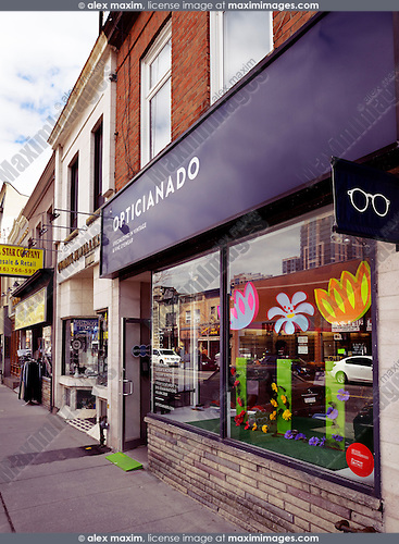 Opticianado vintage eyewear store at the Junction neighbourhood in Toronto, Canada