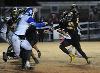 NWA Democrat-Gazette/ANDY SHUPE<br /> Blake Faulk (20) of Prairie Grove carries the ball into the end zone through the Star City defense Friday, Nov. 27, 2015, during the first half of play at Tiger Stadium in Prairie Grove. Visit nwadg.com/photos to see more photographs from the game.