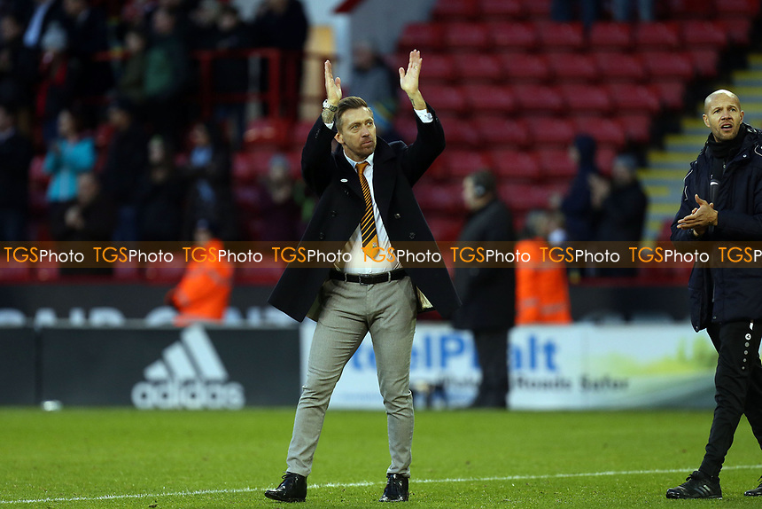 Barnet manager Darren Currie after Sheffield United vs Barnet, Emirates FA Cup Football at Bramall Lane on 6th January 2019