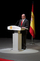 Banco Santander's chairman Emilio Boting delivers a speech during the ceremony to designate ambassadors of the Brand Spain. February 12, 2013. (ALTERPHOTOS/Alvaro Hernandez) /NortePhoto