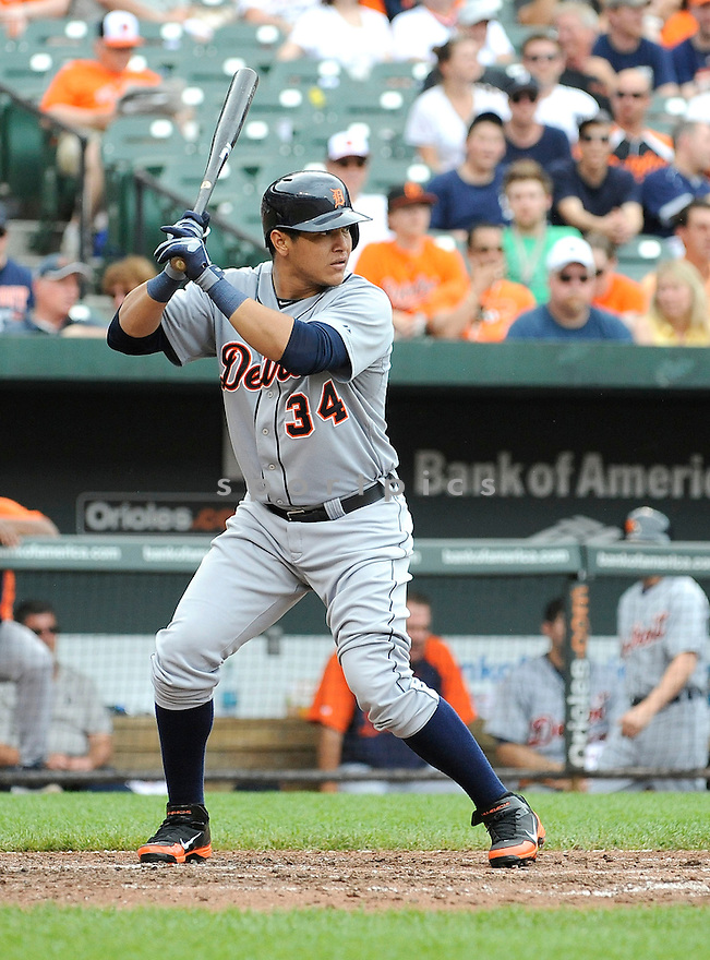 Detroit Tigers Avisail Garcia (34) during a game against the Baltimore Orioles on June 2, 2013 at Oriole Park in Baltimore, MD. The Orioles beat the Tigers 4-2.