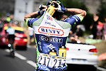 Bidon carrying duty for Dion Smith (NZL) Wanty-Groupe Gobert during Stage 14 of the 2018 Tour de France running 188km from Saint-Paul-Trois-Chateaux to Mende, France. 21st July 2018. <br /> Picture: ASO/Pauline Ballet | Cyclefile<br /> All photos usage must carry mandatory copyright credit (&copy; Cyclefile | ASO/Pauline Ballet)