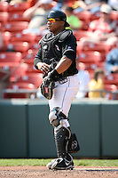 April 25, 2009:  Catcher Robinson Cancel of the Buffalo Bisons, International League Class-AAA affiliate of the New York Mets, during a game at the Coca-Cola Field in Buffalo, NY.  Photo by:  Mike Janes/Four Seam Images