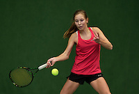 Almere, Netherlands, December 6, 2015, Winter Youth Circuit, Anouk Koevermans (NED)<br /> Photo: Tennisimages/Henk Koster