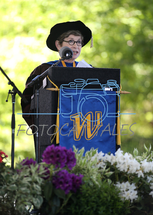 Dr. Carol Lucy speaks at the 2013 Western Nevada College Commencement at the Pony Express Pavilion, in Carson City, Nev., on Monday, May 20, 2013. .Photo by Cathleen Allison
