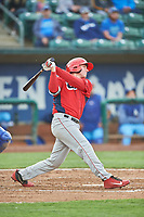 David Clawson (24) of the Orem Owlz bats against the Ogden Raptors at Lindquist Field on June 20, 2019 in Ogden, Utah. The Owlz defeated the Raptors 11-8. (Stephen Smith/Four Seam Images)