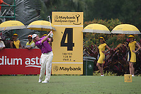 Lee Westwood (ENG) on the move having birdied the 3rd during the Final Round of the 2014 Maybank Malaysian Open at the Kuala Lumpur Golf & Country Club, Kuala Lumpur, Malaysia. Picture:  David Lloyd / www.golffile.ie