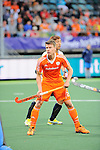 The Hague, Netherlands, June 03: Jelle Galema #20 of The Netherlands looks on during the field hockey group match (Men - Group B) between The Netherlands and Korea on June 3, 2014 during the World Cup 2014 at Kyocera Stadium in The Hague, Netherlands. Final score 2:1 (1:1) (Photo by Dirk Markgraf / www.265-images.com) *** Local caption ***