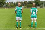 02.08.2020, wohninvest Weserstadion Platz 12, Bremen, GER,FSP, FLYERALARM, FFBL SV Werder Bremen vs  SV Henstedt-Ulzburg, <br /> <br /> <br /> <br />  im Bild<br /> <br /> Die Spielerinnen kommen mit dem neuen Werder Trikot zum Testspiel auf den Platz<br /> Lina Hausicke (WerderBremen18)<br /> Reena Wichmann (WerderBremen6)