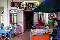 Malaysia, Penang. Old Georgetown Streets - a UNESCO World Heritage site. Wan Hai Hotel.