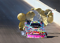 Feb 26, 2016; Chandler, AZ, USA; NHRA funny car driver Courtney Force during qualifying for the Carquest Nationals at Wild Horse Pass Motorsports Park. Mandatory Credit: Mark J. Rebilas-USA TODAY Sports