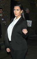 NEW YORK, NY - JANUARY 16: Kim Kardashian at Late Show with David Letterman in New York City. January 16, 2013. Credit: RW/MediaPunch Inc. /NortePhoto