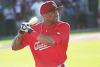 APPLETON - June 2012: Virgil Hill (36) of the Quad Cities River Bandits, Class-A affiliate of the St. Louis Cardinals, during a game against the Wisconsin Timber Rattlers on June 25, 2012 at Time Warner Cable Field at Fox Cities Stadium in Appleton, Wisconsin. (Photo by Brad Krause).