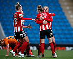 Katie Wilkinson celebrates her goal during the The FA Women's Championship match at the Proact Stadium, Chesterfield. Picture date: 8th December 2019. Picture credit should read: Simon Bellis/Sportimage