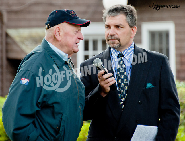 Jack van Berg being interviewed by Chris Sobocinski at Delaware Park on 9/14/13