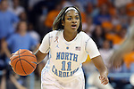 11 November 2013: North Carolina's Brittany Rountree. The University of North Carolina Tar Heels played the University of Tennessee Lady Vols in an NCAA Division I women's basketball game at Carmichael Arena in Chapel Hill, North Carolina. Tennessee won the game 81-65.
