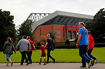 Fans make their way towards the ground before the premier league match at Anfield Stadium, Liverpool. Picture date 27th August 2017. Picture credit should read: Paul Thomas/Sportimage