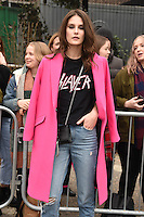 Charlotte Wiggins<br /> arrives for the Topshop Unique AW17 show as part of London Fashion Week AW17 at Tate Modern, London.<br /> <br /> <br /> &copy;Ash Knotek  D3232  19/02/2017