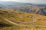 Winding road to Mount Nemrut in Nemrut Mountain National Park, Turkey