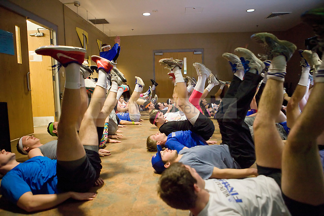 Members of Sigma Chi practice before Greek Sing in Lexington, Ky., on Saturday February 8, 2014. Photo by Emily Wuetcher   Staff