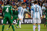 Seattle, WA - Tuesday June 14, 2016: Argentina midfielder Lucas Biglia (6) during a Copa America Centenario Group D match between Argentina (ARG) and Bolivia (BOL) at CenturyLink Field