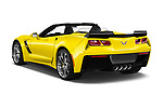Car pictures of rear three quarter view of 2017 Chevrolet Corvette Grand-Sport-3LT 2 Door Convertible Angular Rear