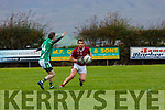 Niall Dennehy  Cromane turns Cathal Moriarty Milltown Castlemaine during their Mid Kerry clash in Cromane on Saturday