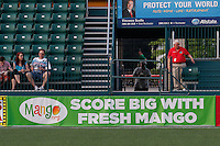 Rochester, NY - Friday May 27, 2016: A Mango.org ad board. The Western New York Flash defeated the Boston Breakers 4-0 during a regular season National Women's Soccer League (NWSL) match at Rochester Rhinos Stadium.