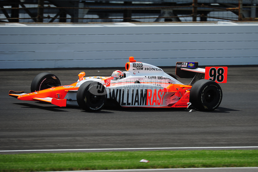 May 29, 2011; Indianapolis, IN, USA; Indy Car Series driver Dan Wheldon during the 95th running of the Indy 500 at the Indianapolis Motor Speedway. Mandatory Credit: Mark J. Rebilas-