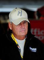Oct. 3, 2009; Kansas City, KS, USA; Nascar Sprint Cup Series team owner Rick Hendrick during practice for the Price Chopper 400 at Kansas Speedway. Mandatory Credit: Mark J. Rebilas-