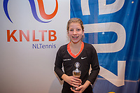 Hilversum, Netherlands, December 3, 2017, Winter Youth Circuit Masters, 12,14,and 16 years, 7 th place girls 14 years Isis van den Broek<br /> Photo: Tennisimages/Henk Koster