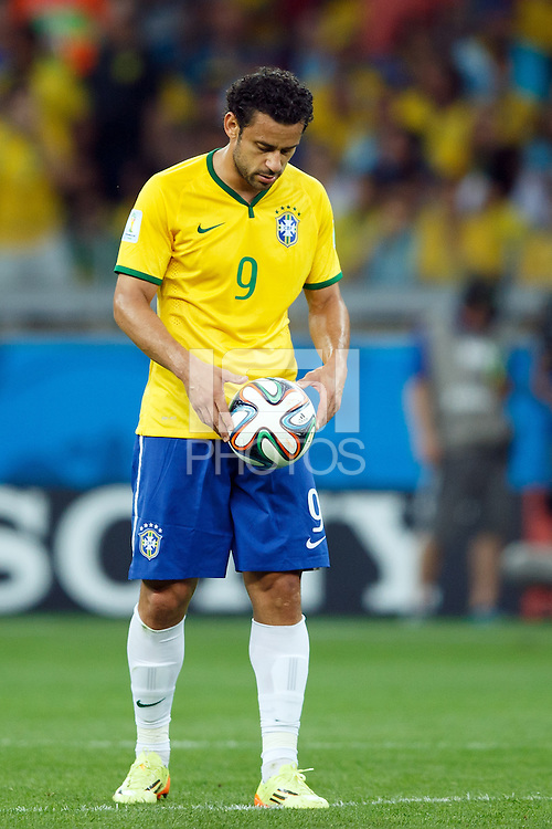Fred of Brazil looks dejected