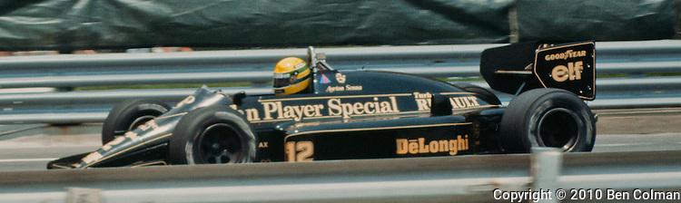 Ayrton Senna. Lotus 98T, Detroit 1986