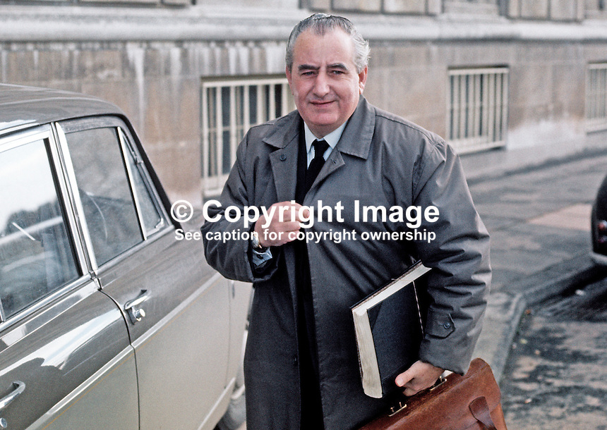 Jim Baillie, secretary, Ulster Unionist Party, at Parliament Buildings, Stormont, Belfast, N Ireland, 1970100363JB2, 363/70.<br />