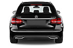Straight rear view of 2014 Mercedes Benz C-CLASS Avantgarde 5 Door Wagon 2WD stock photo
