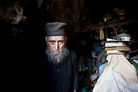 Mount Athos - The Holy Mountain.<br /> Father Arsenios, who is 87 or 88 years old - he can't quite remember.<br /> <br /> Photographer: Rick Findler