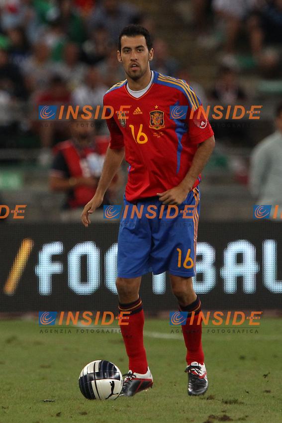 Sergio Busquets..Bari 10/8/2011 Stadio S.Nicola..Football Calcio amichevole Italia Vs Spagna..Foto Insidefoto Paolo Nucci