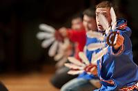 Inu-Yupiaq Dancers of the University of Alaska Fairbanks, perform native dance at the 2009 Festival of Native Arts, Fairbanks, Alaska. The festival is one of interior Alaska's greatest celebrations of Alaska Native culture.