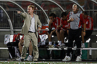 Toronto FC head coach Mo Johnston and assistant coach Bob Gansler. The Los Angeles Galaxy played Toronto FC to a 0-0 tie in an MLS regular season match at BMO Field, Toronto, Ontario, Canada, on August 5, 2007.