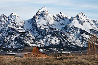 Mormon Barn with Grand Tetons